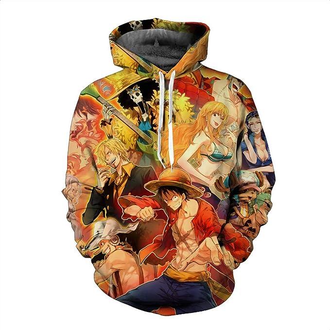 Unisex Sudadera con Capucha 3D Anime Gráfico Impresion Sudaderas One Piece Hoodie con Bolsillos Drawstring: Amazon.es: Ropa y accesorios