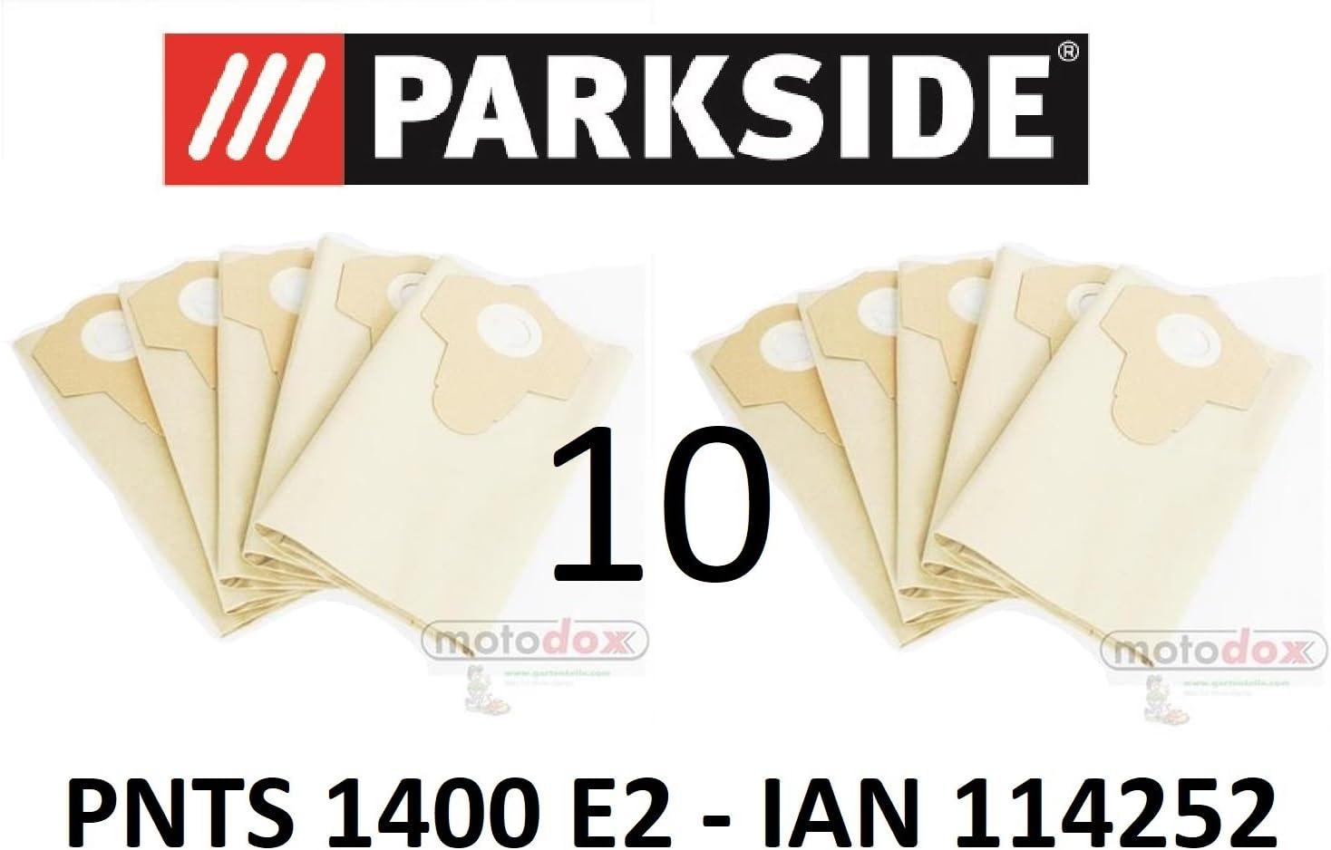 10 bolsas de aspiradora Parkside 30 L pnts 1400 E2 Lidl Ian 114252 ...