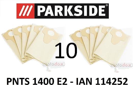 10 bolsas de aspiradora Parkside 30 L pnts 1400 E2 Lidl Ian 114252 marrón 906 – 02 – Parkside mojado aspiradora en seco: Amazon.es: Hogar