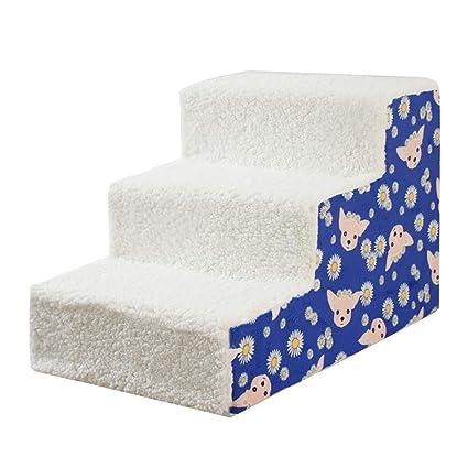 Escaleras y escalones Pasos para Perros Plegables para Mascotas, 3 Pasos para Camas de Perros