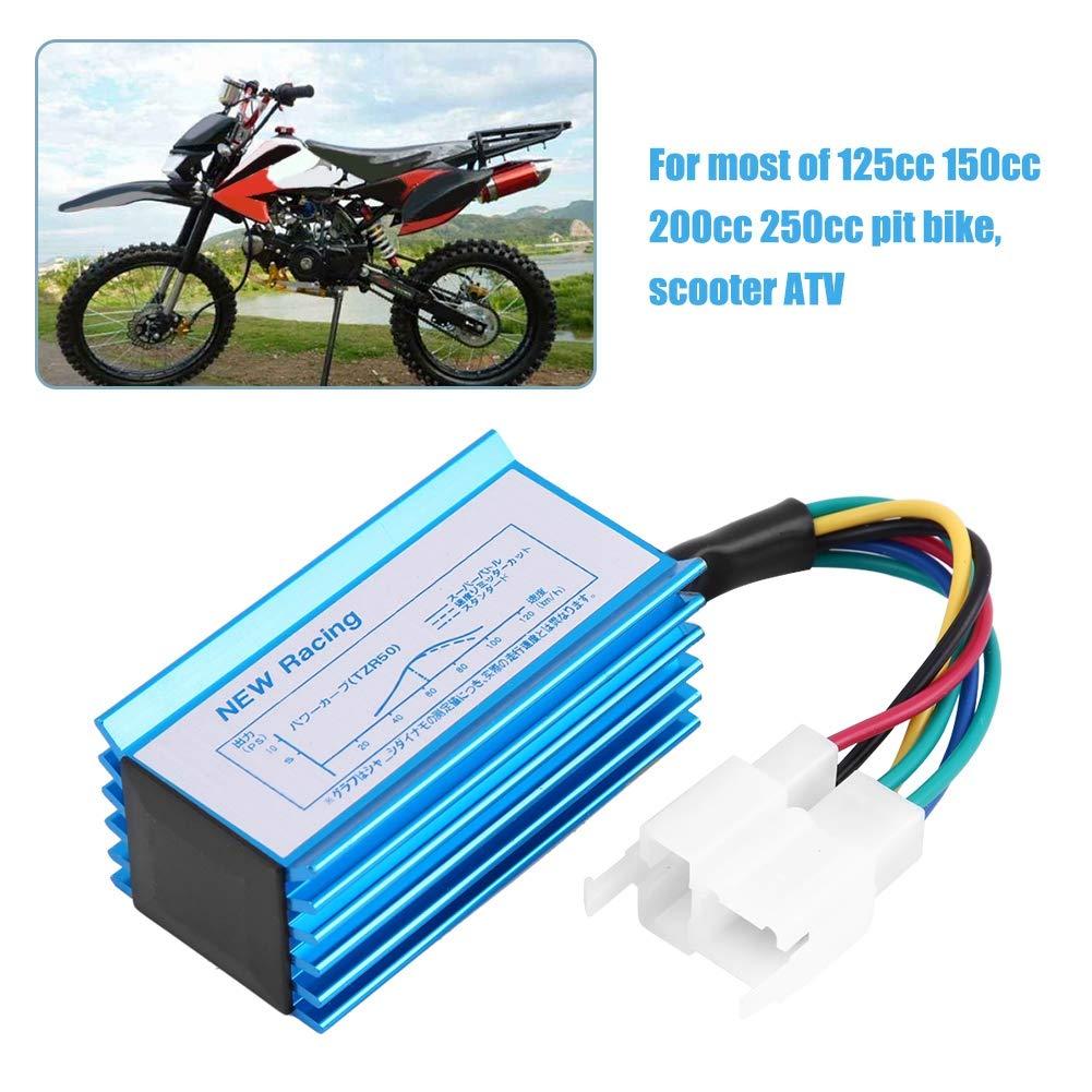 6 Pin CDI Bobina di Accensione in Lega di Alluminio Racing CDI Box per Moto 125cc 150cc 200cc 250cc Pit Bike Scooter ATV