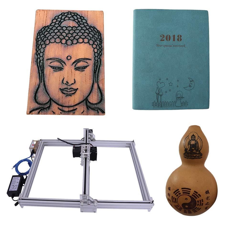 Laser Engraver Machine DIY CNC Laser Engraver Kits Wood Carving Engraving Cutting Machine Desktop Printer Logo Picture Marking, 40x50cm,2 Axis