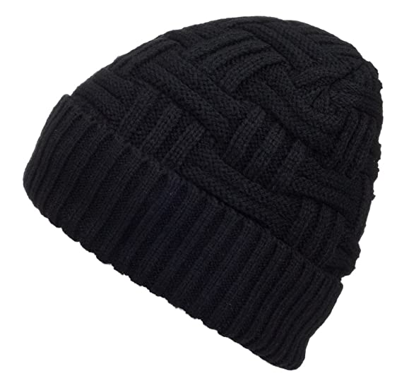 29ecf4caca9d1 Spikerking Mens Winter Knitting Wool Warm Hat Daily Slouchy Beanie Skull Cap  (One Size