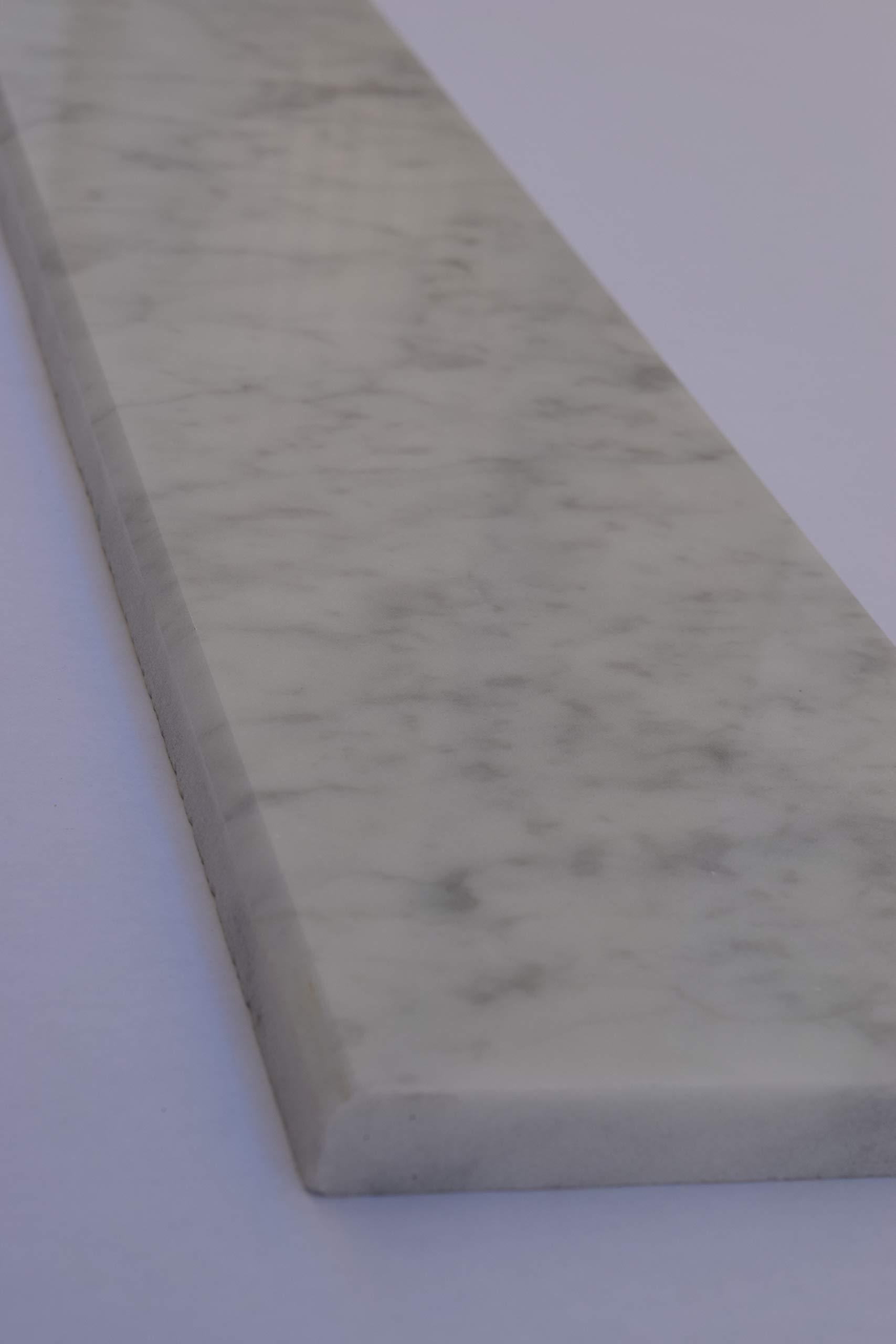 Marble White Carrara (Italy) Threshold (Saddle) 2 Sides Beveled 36''x 6''