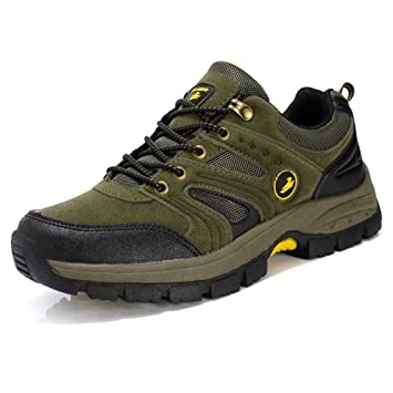 Men's Winter Anti-slip Hiking Shoes Waterproof Outdoor Breathable Shoes 38-44 ( Color : Army green  Size : 38 )
