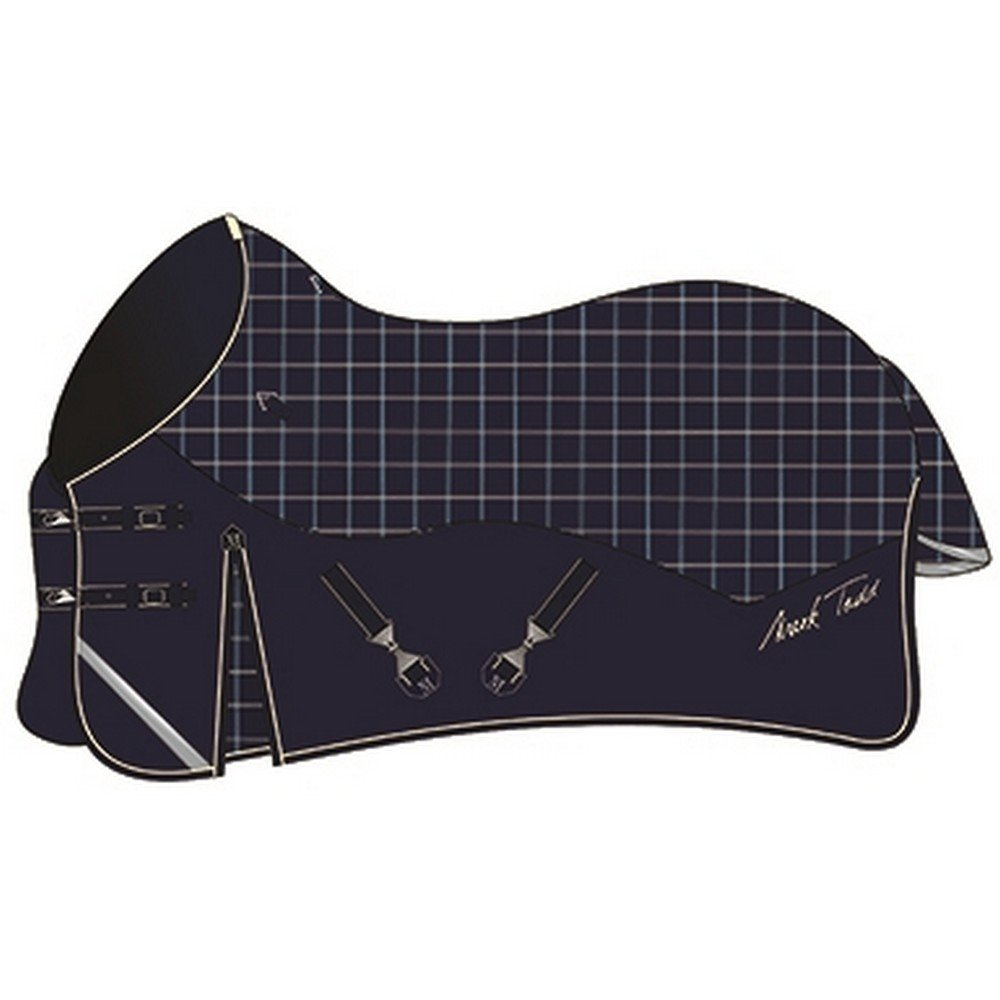 Mark Todd Unisex's Turnout Rug Lightweight 5' 9  Navy Beige Royal Plaid