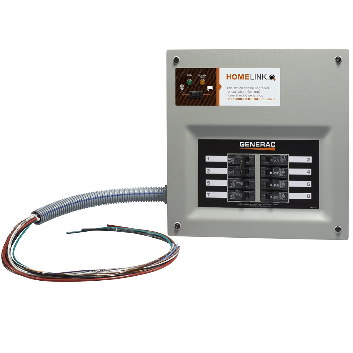 Generac 6852 Home Link Upgradeable Transfer Switch Kit, 30 Amp by Generac