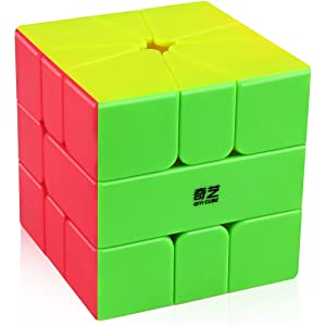 Coogam Qiyi Qifa Square-1 Cube SQ1 Magic Stickerless Speed Square-one Cube Shaped Puzzle Smooth Turning Square1 SQ 1 Cube for Beginner Kids