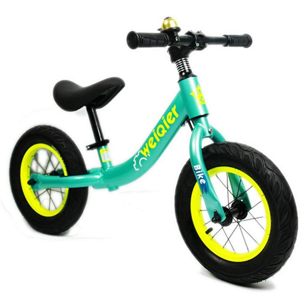 Equilibrio allenamento bicicletta 12  14  Equilibrio bici con freno e campana per bambini e bambini senza pedale Air pneumatici antiscivolo Manubrio spinta e passo per bimbi ragazze Sport allenamento