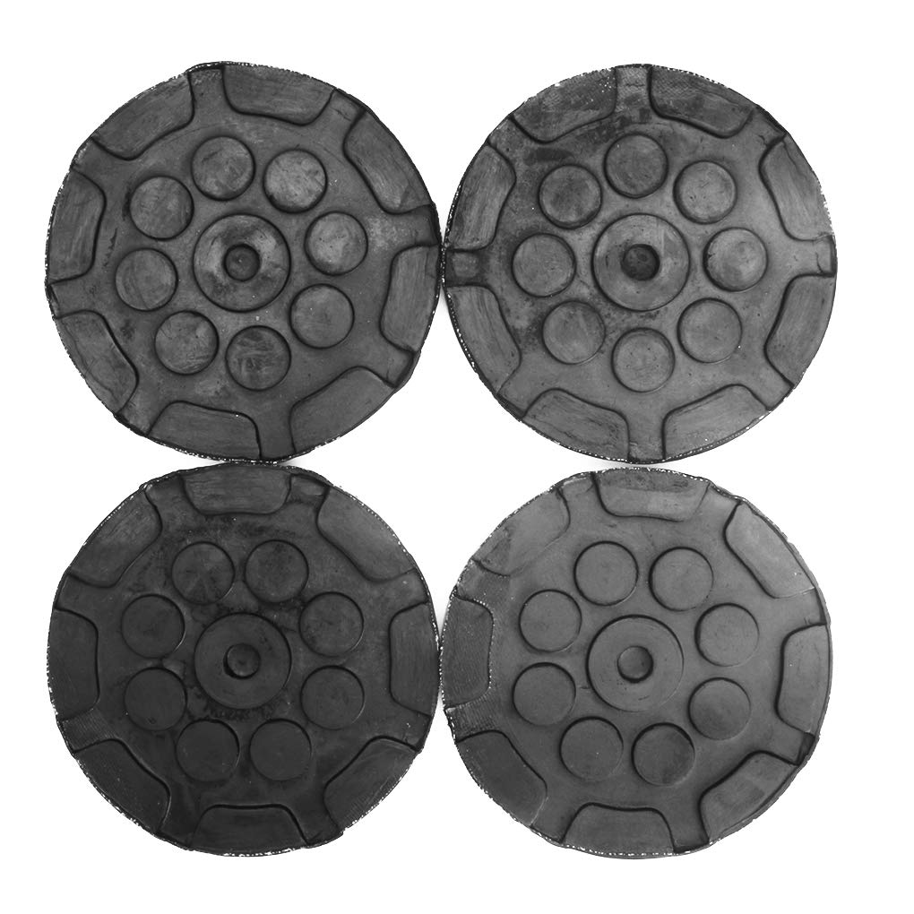 4pcs Universal Round 120mm Rubber Arm Pads Auto Jacking Lift Car Truck Hoist Pads by You May