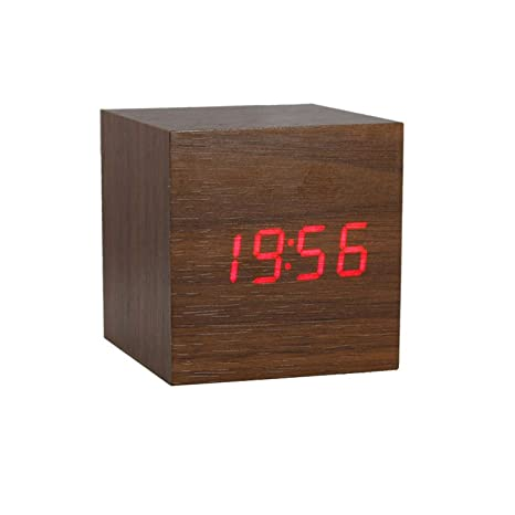 Reloj despertador Reloj electronico reloj de madera reloj digital