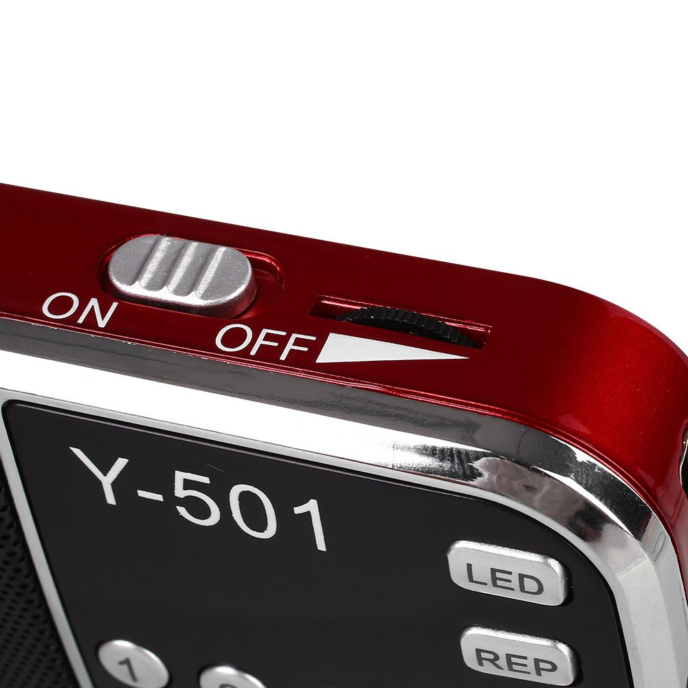 Hanbaili Personal Digital Stereo FM Mini Radio Rechargable Speaker with TF USB AUX In by Cewaal (Image #5)