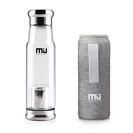 MIU COLOR® 550 ml Vidrio borosilicato a mano la botella de agua