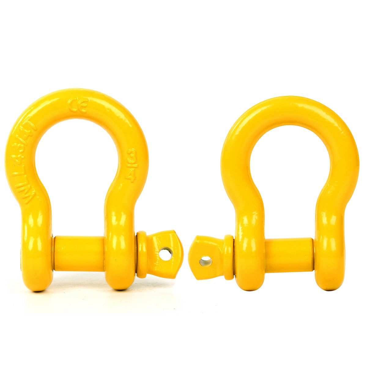 8MILELAKE 3//4 D-Ring Shackle freebirdtrading SZ 9,500 Lbs 4 3//4 tons WLL D-Ring Shackle Isolator Heavy Duty Galvanized D Ring for Jeep Vehicle Recovery 2 Pack