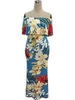 Xanthedoris Nova Barra Ocasional Pescoço Padrão Floral Mulheres Vestidos Off The Shoulder Ruffles Vestido Longo Vestidos