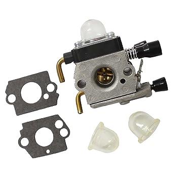 MagiDeal 1 Pieza de Carburador + Amortiguador + Junta de Carb para Stihl FS38 FS45C FS45l FS46 FS46C: Amazon.es: Coche y moto