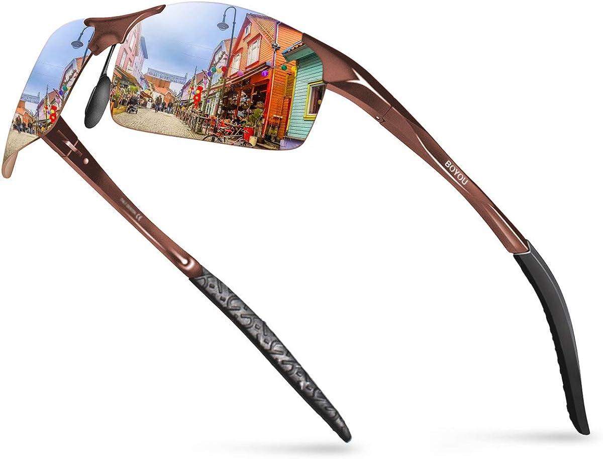 BOYOU Polarized Mens Sunglasses Summer Outdoor Eyewear Sunglasses for Men