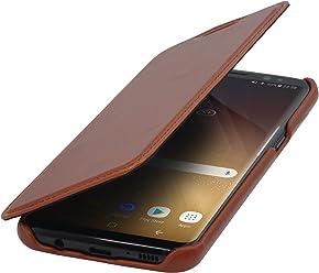 StilGut Housse pour Samsung Galaxy S8 en Cuir véritable à Ouverture latérale, Cognac