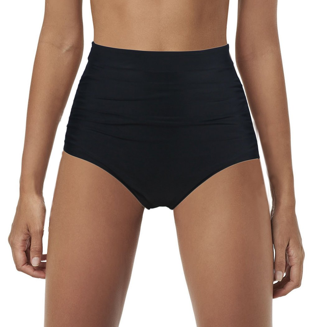 Qiaoer Womens Vintage Push up Halter High Waisted Bikini Swimsuit