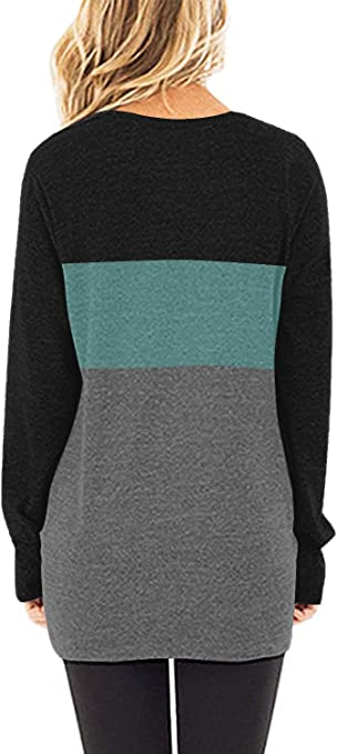 BETTE BOUTIK Sweaters for Women Casual Loose Fitting Pullover Shirts Crew Neck Tunic Tops