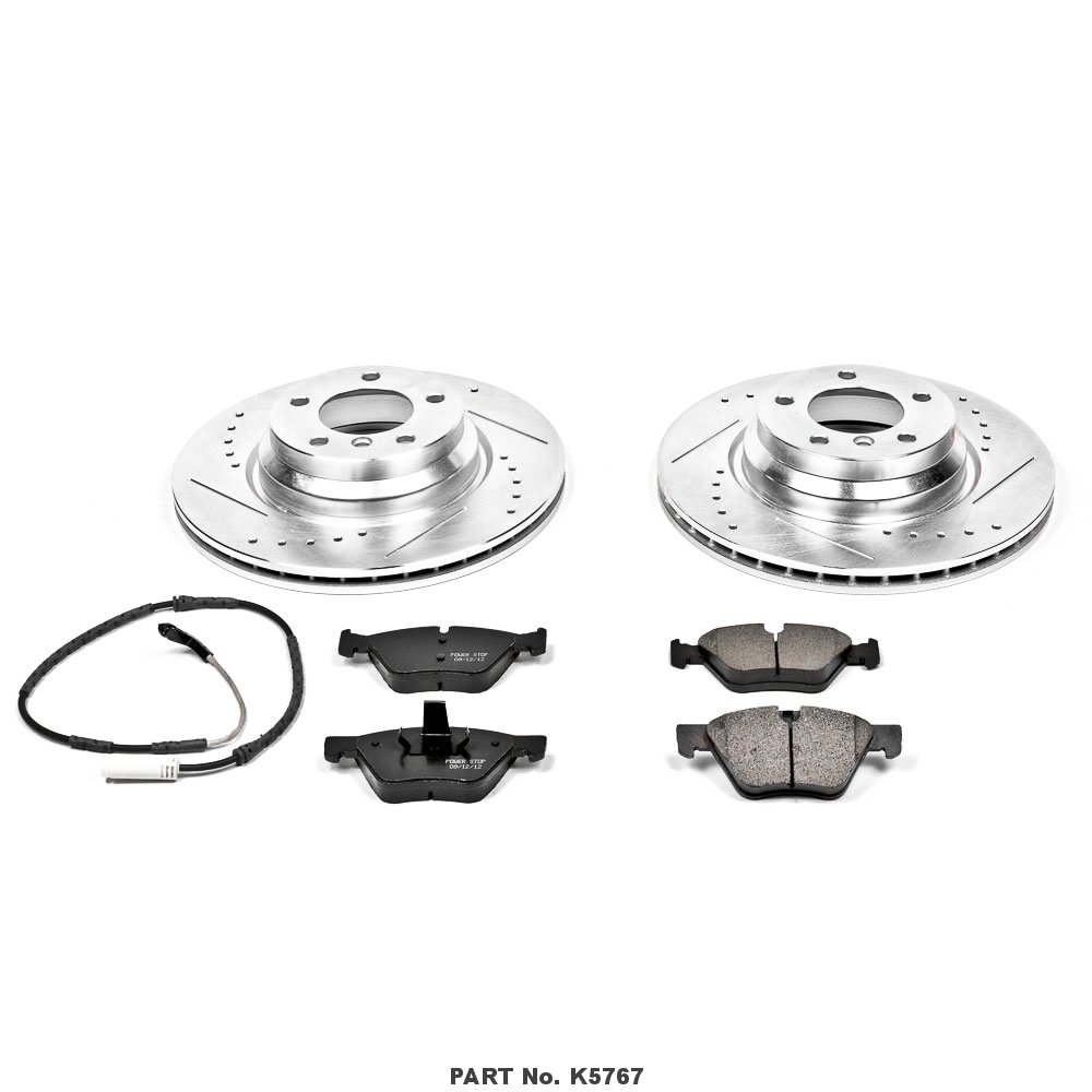 Power Stop K5767 Front Z23 Evolution Brake Kit with Drilled//Slotted Rotors and Ceramic Brake Pads