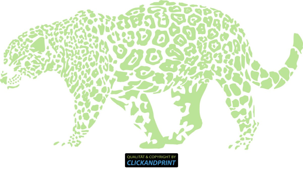 CLICKANDPRINT Aufkleber » Leopard, 150x74,4cm, Türkis • Wandtattoo Wandtattoo Wandtattoo   Wandaufkleber   Wandsticker   Wanddeko   Vinyl B073X5Z563 Wandtattoos & Wandbilder 2dabe1