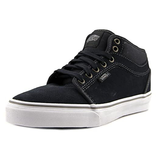 63c38859ea Vans Men s Chukka Midtop Ebony Grey Ankle-High Suede Fashion Sneaker - 7M