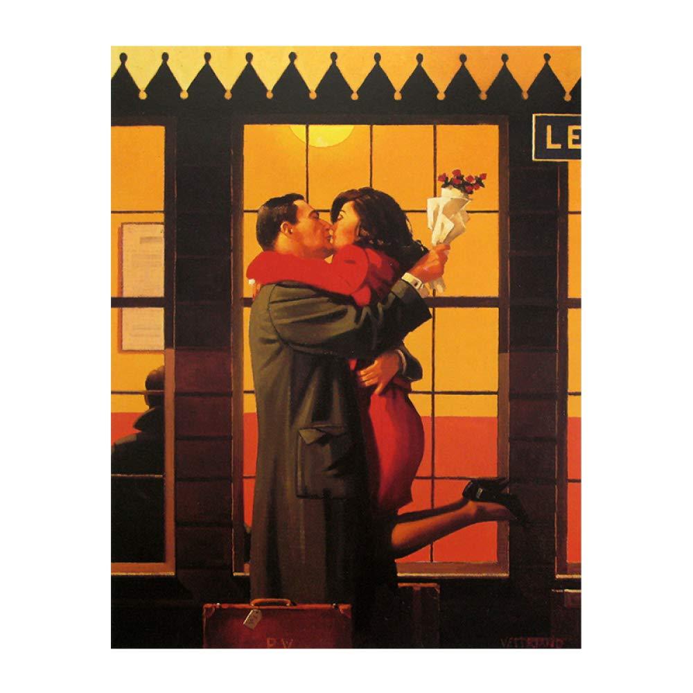 yhyxll Torna Dove appartieni di Jack Vettriano Poster e Stampe Foto Tela Pittura Quadri dArte Grafica per Soggiorno A 40x60cm