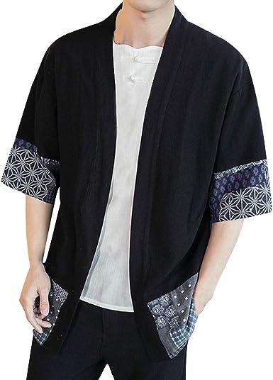 Camisetas de algodón y Lino para Hombre, Estilo Vintage, holgadas ...