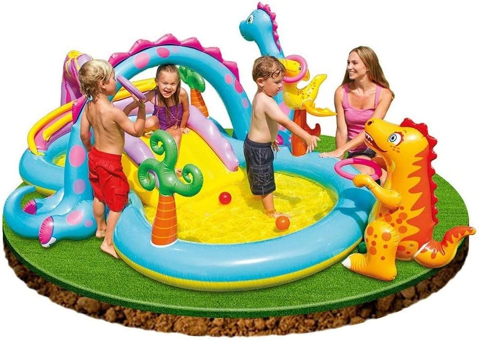 Juegos hinchable Intex Dinosaurios Play Center, con piscina y ...