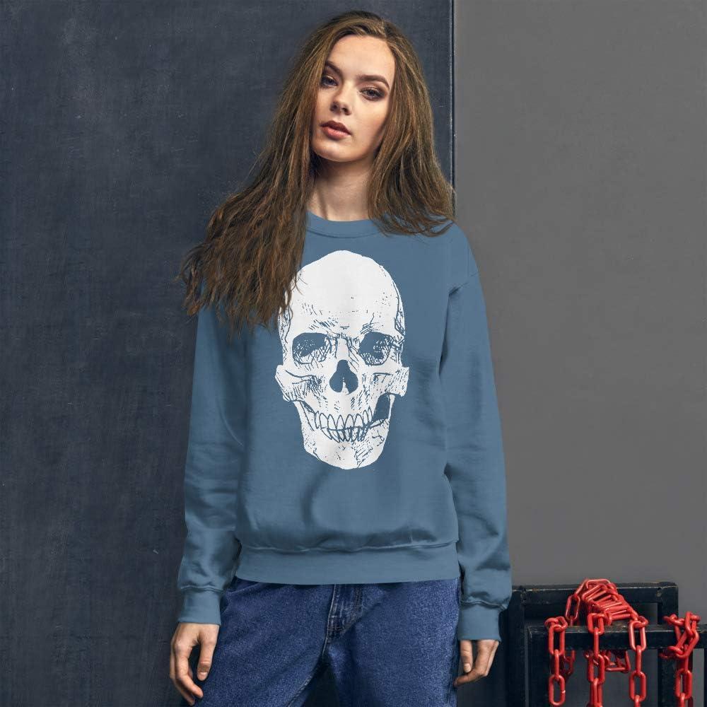 Cult of the Wild Skull Unisex Sweatshirt by Sonny Wong Indigo Blue