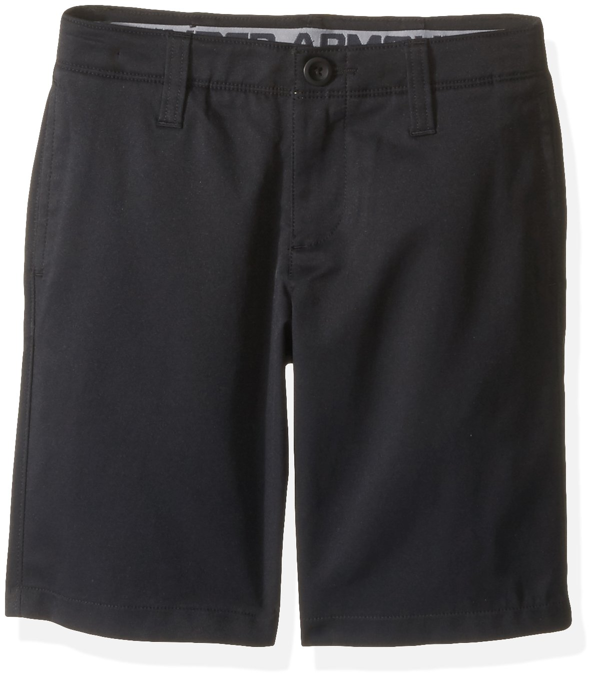 Under Armour Boys' Match Play Polo Shorts, Black/Black,20 by Under Armour