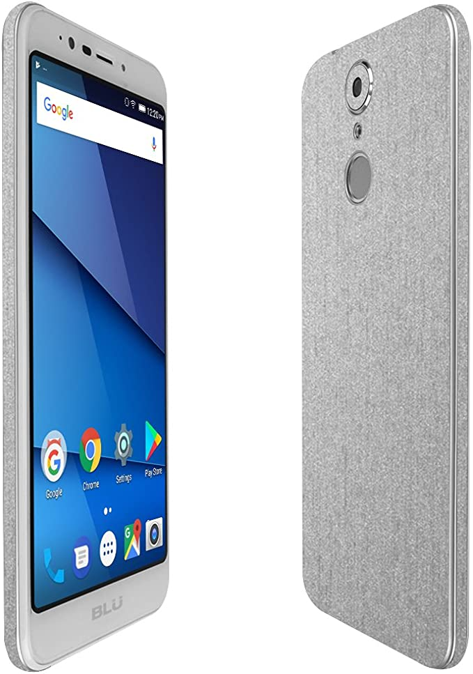 Full Coverage TechSkin with Anti-Bubble Clear Film Screen Protector Skinomi Brushed Steel Full Body Skin Compatible with Alcatel One Touch Retro