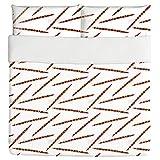Ethno Sticks Duvet Bed Set 3 Piece Set Duvet Cover - 2 Pillow Shams - Luxury Microfiber, Soft, Breathable