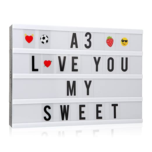 cinema light up box a3 light cinematic box with 150 letters numbers and emojis light up signs battery and usb power amazoncom