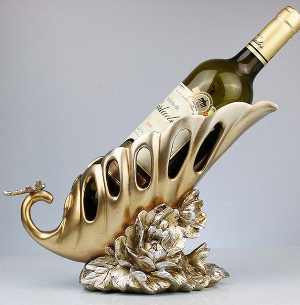 liuhoue Inicio Decoraciones De Estante del Vino del Pavo Pavo Pavo Real, Creativos De La Resina Decoración Mueble Salón Vino a06339
