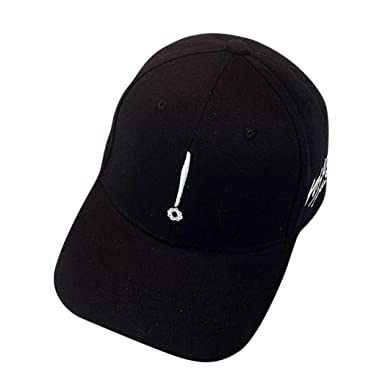 9a755f6d721 Iuhan Couple Hat Embroidery Baseball Cap Snapback Hip Hop Flat Hat As The  Picture Shows Black