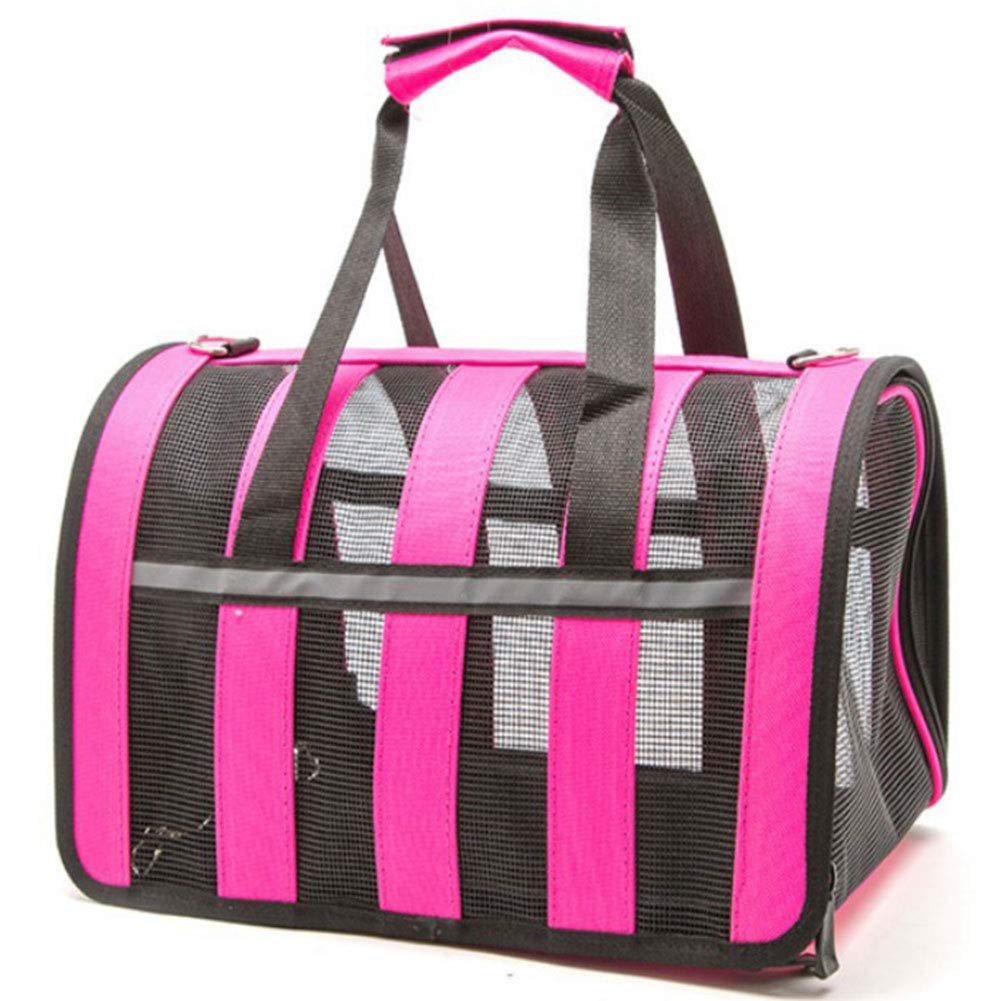 pink L pink L HAOJINFENG Puppy Carrying Case Tote Bag Folding Mesh Breathable Bag Multicolor and Multi Size Optional Bag