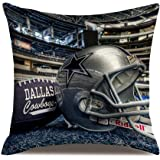 American Sport Football Helmat Modern Athlete Stadium Cowboy Decorative Cotton Linen Square Throw Pillow Cases…