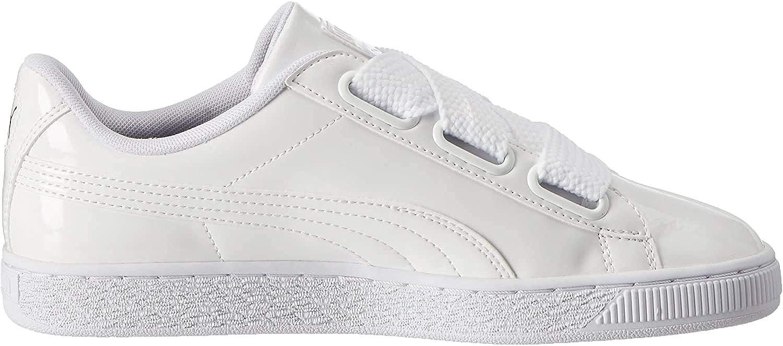 Puma Damen Basket Heart Patent WN's Sneakers, Weiß White