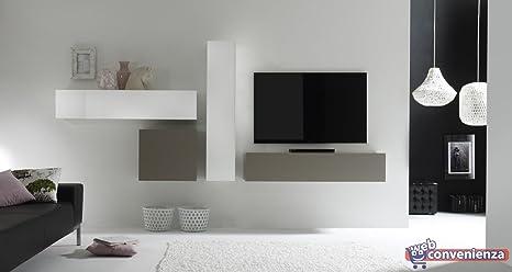 Pareti Soggiorno Beige : Web convenienza cube a bianco lucido e beige opaco parete