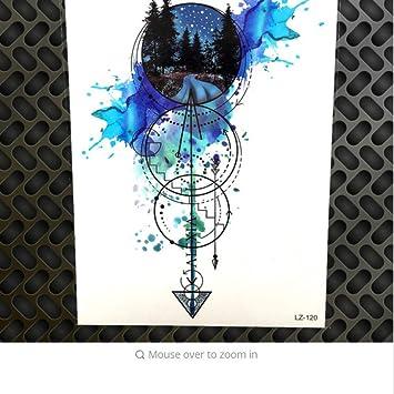 Aquarell Geometrischen círculo flecha temporales tatuaje estanco ...