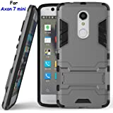 Axon 7 mini Case, ZTE Axon 7 mini Case, MicroP(TM) Dual Layer Armor Hard Slim Hybrid Kickstand Phone Cover Case for ZTE Axon 7 mini (Axon 7 mini Gray Kickstand Case)