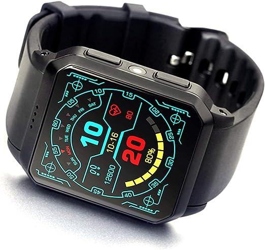 HUIGE SmartWatch Reloj de Pulsera a Prueba de Agua con Pantalla OLED de 1,5 Pulgadas, Android Wear 2.0, SportsWatch Compatible con Android Adecuado para la mayoría de los Tipos de Smartphone: Amazon.es: