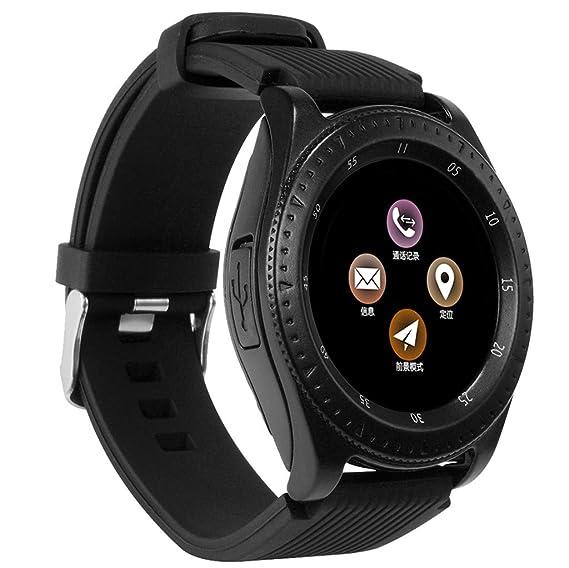 Amazon.com: AxiBa Stainless Steel Touch Screen Smart Watch ...
