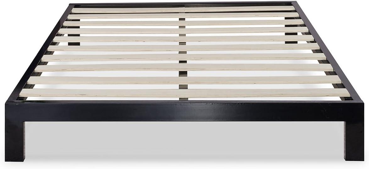 Zinus Arnav Modern Studio 10 Inch Platform 2000 Metal Bed Frame Mattress Foundation No Box Spring Needed Wooden Slat Support Good Design Award Winner, King