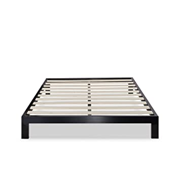 zinus modern studio 10 inch platform 2000 metal bed frame mattress foundation no boxspring - Queen Bed And Frame