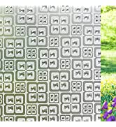 Privacy Window Film Crystal Window Clings 3D Decorative Window Vinyl Stained Glass Window Decals ...