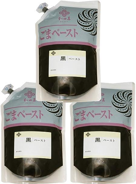 和田萬 香る黒ごまペースト 1kg×3袋