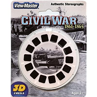 Civil War - Authentic Stereographs 1861-1865 - Classic ViewMaster 3 Reels on Card- NEW: Toys & Games